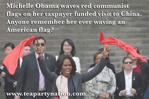 Michelle Waving Her True Colors